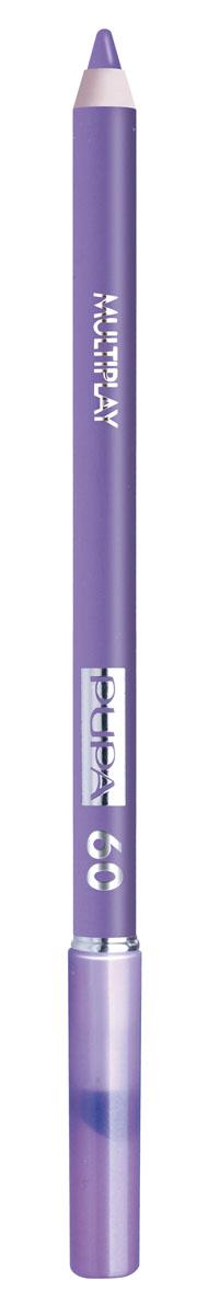 PUPA Карандаш для век с аппликатором Multiplay Eye Pencil тон №60 гиацинтовый, 1.2 г244060Контурный карандаш для глаз Multiplay тройного действия с аппликатором для растушёвки подчёркивает взгляд с помощью интенсивного и однородного цвета, которой обладает безупречной стойкостью. Мягкая и очень пластичная текстура обеспечивает лёгкое и быстрое нанесение.
