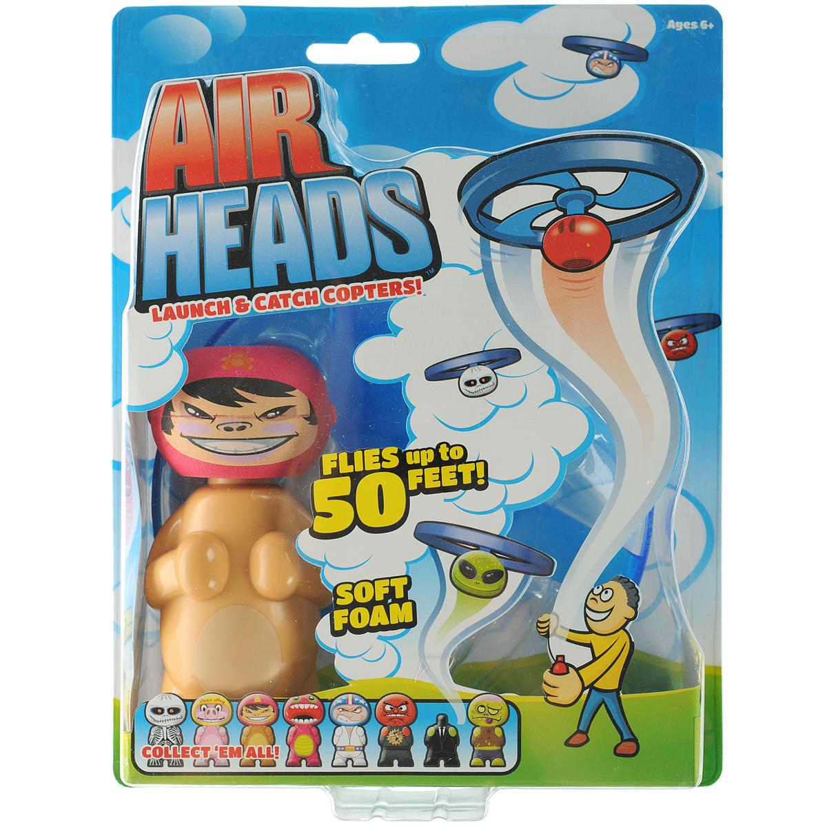 Игрушка Hog Wild Летающая голова поппер: P. J.52400 P.J.Игрушка Hog Wild Летающая голова поппер: P. J. привлечет внимание вашего ребенка и станет отличным развлечением во время прогулки. Она выполнена из пластика и полимера в виде необычной фигурки с летающей головой. Для запуска необходимо соединить голову с пропеллером до щелчка. Получившийся головолет соедините с туловищем. Затем потяните за пусковой шнур, чтобы начать полет. Летающая голова взлетает до 15 метров! Порадуйте своего непоседу таким замечательным подарком!
