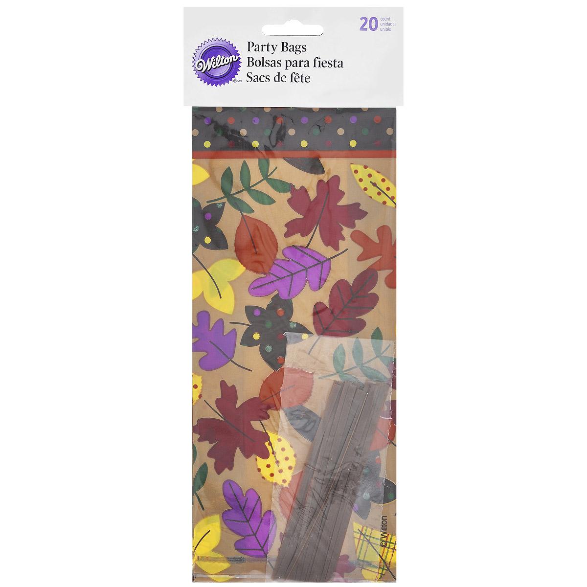 Набор пакетов Wilton Осень, с завязками, 10 см х 24 см, 20 штWLT-1912-0427