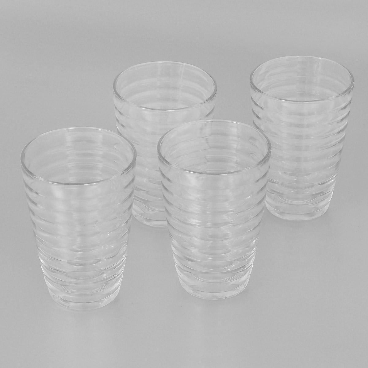 Набор стаканов Bormioli Rocco Viva, 340 мл, 4 шт515020СМ1821990Набор Bormioli Rocco Viva, выполненный из стекла, состоит из 4 высоких стаканов. Стаканы предназначены для подачи холодных напитков. Изделия ударопрочные, выдерживают температуру от -20°С до 100°С, также можно использовать в посудомоечной машине и в микроволновой печи. С внешней стороны поверхность стаканов рельефная, что создает эффект игры света и преломления. Благодаря такому набору пить напитки будет еще вкуснее. Стаканы Bormioli Rocco Viva станут идеальным украшением праздничного стола и отличным подарком к любому празднику. С 1825 года компания Bormioli Rocco производит высококачественную посуду из стекла. На сегодняшний день это мировой лидер на рынке производства стеклянных изделий. Ассортимент, предлагаемый Bormioli Rocco необычайно широк - это бокалы, фужеры, рюмки, графины, кувшины, банки для сыпучих продуктов и консервирования, тарелки, салатники, чашки, контейнеры различных емкостей, предназначенные для хранения продуктов в холодильниках и...
