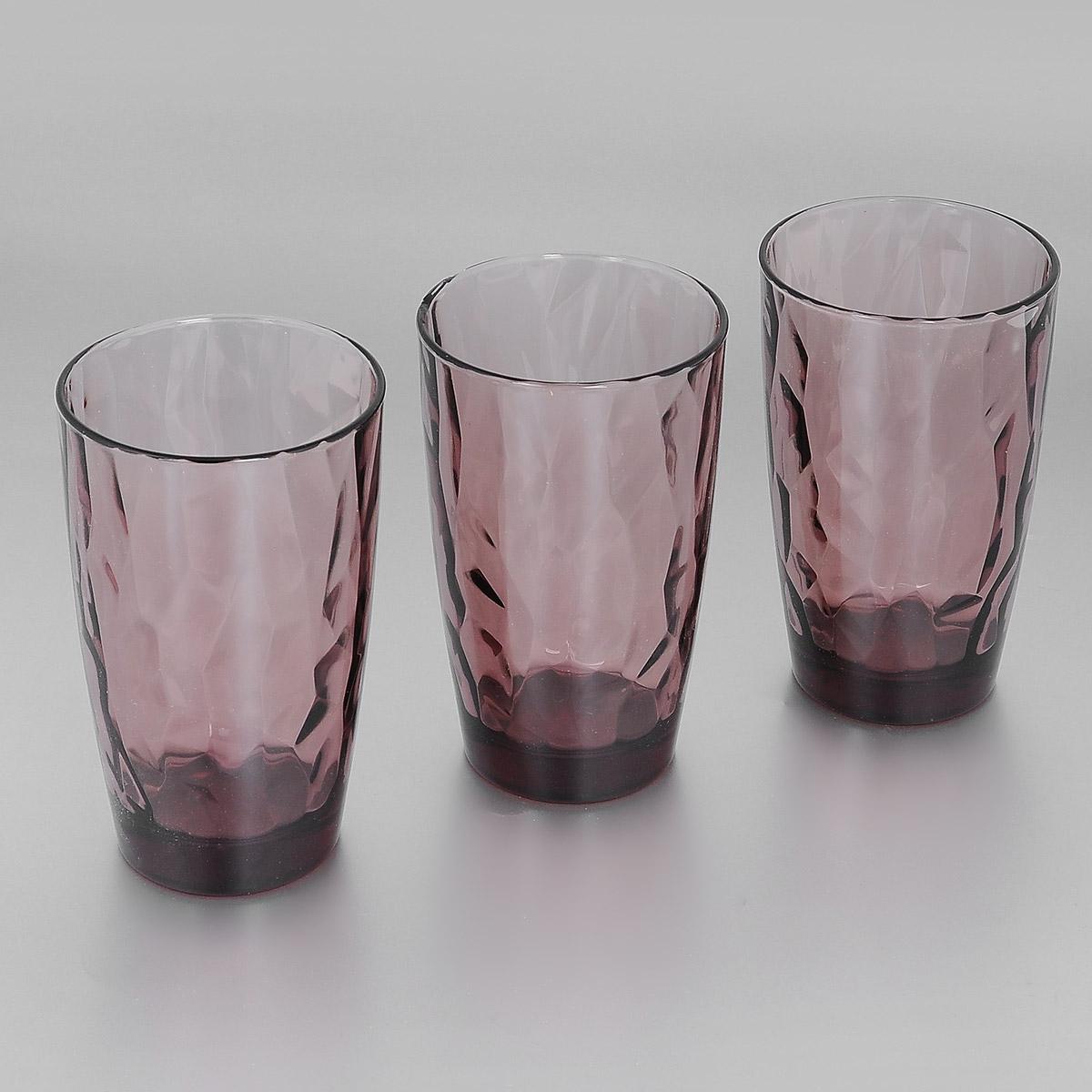 Набор стаканов Bormioli Rocco Diamond Rock Purple, 470 мл, 3 шт