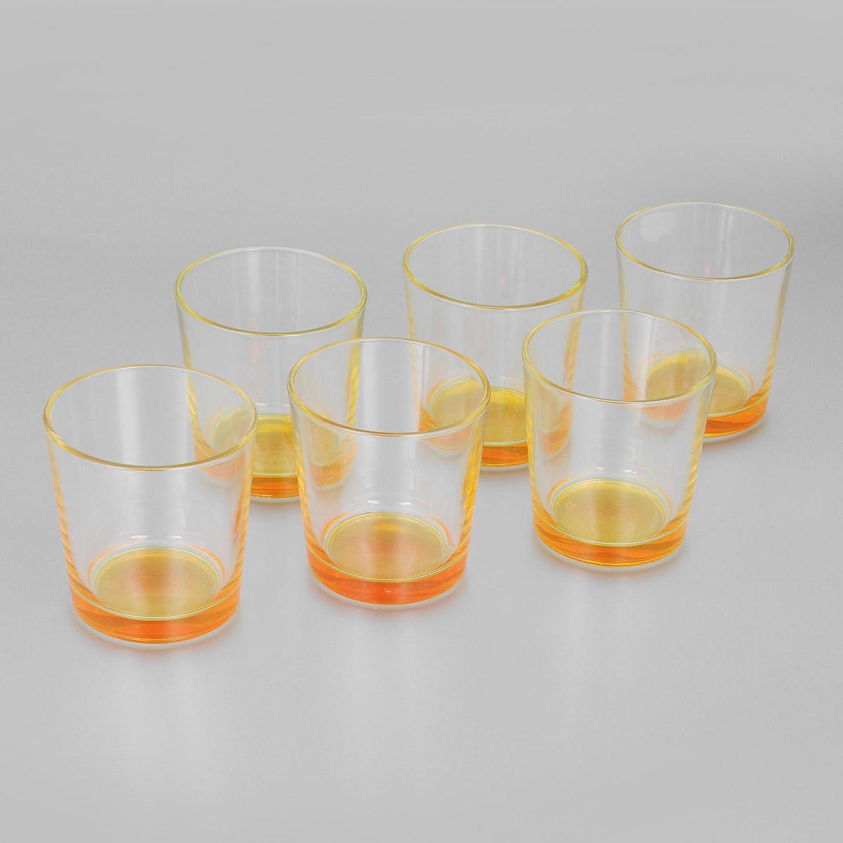 Набор стаканов Ода, цвет: оранжевый, 250 мл, 6 шт. 1249-Н1249-ННабор Ода состоит из шести стаканов с цветным дном, изготовленных из высококачественного стекла. Чистые цвета, плавные линии и совершенные формы предметов вызывают восхищение, а элегантный дизайн набора привлечет к себе внимание и украсит интерьер. Стаканы идеально подойдут для сервировки стола и станут отличным подарком к любому празднику.