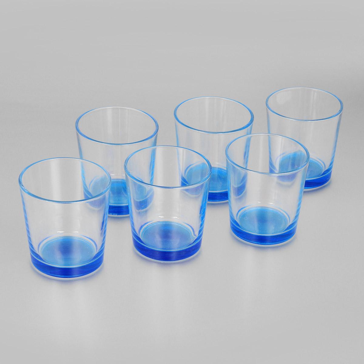 Набор стаканов Ода, цвет: голубой, 250 мл, 6 шт. 1249-Н1249-ННабор Ода состоит из шести стаканов с цветным дном, изготовленных из высококачественного стекла. Чистые цвета, плавные линии и совершенные формы предметов вызывают восхищение, а элегантный дизайн набора привлечет к себе внимание и украсит интерьер. Стаканы идеально подойдут для сервировки стола и станут отличным подарком к любому празднику.