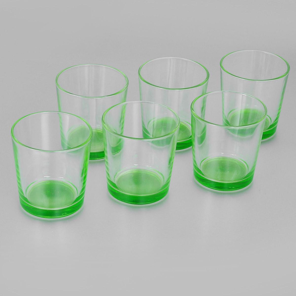 Набор стаканов Ода, цвет: салатовый, 250 мл, 6 шт. 1249-Н1249-ННабор Ода состоит из шести стаканов с цветным дном, изготовленных из высококачественного стекла. Чистые цвета, плавные линии и совершенные формы предметов вызывают восхищение, а элегантный дизайн набора привлечет к себе внимание и украсит интерьер. Стаканы идеально подойдут для сервировки стола и станут отличным подарком к любому празднику.