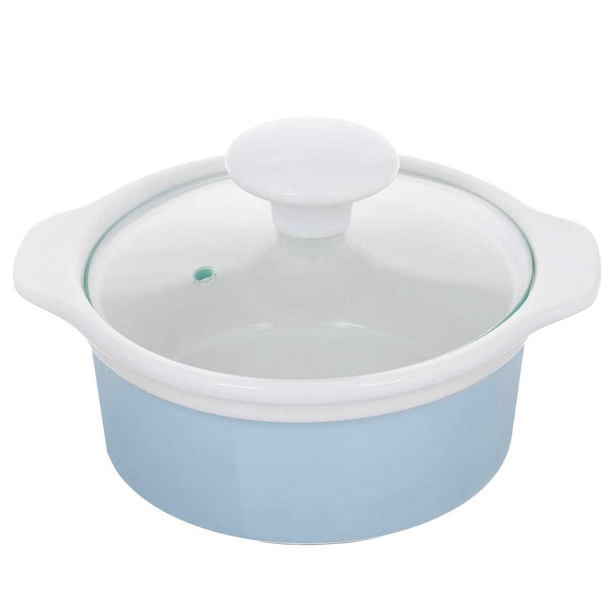 Кастрюля с крышкой, цвет: голубой, 0,6 л. Кт CX002SCX002S-BB (F)Кастрюля выполнена из высококачественной глазурованной керамики и предназначена для запекания различных блюд. Крышка кастрюли изготовлена из стекла с керамической ручкой и отверстием для пара. Можно мыть в посудомоечной машине и использовать в духовом шкафу. Не пригодна для использования на газовой плите. Это идеальный подарок для современных хозяек, которые следят за своим здоровьем и здоровьем своей семьи. Эргономичный дизайн и функциональность позволят вам наслаждаться процессом приготовления любимых, полезных для здоровья блюд. Внутренний диаметр: 12 см. Ширина (с учетом ручек) 17,5 см. Высота стенки: 6,7 см.