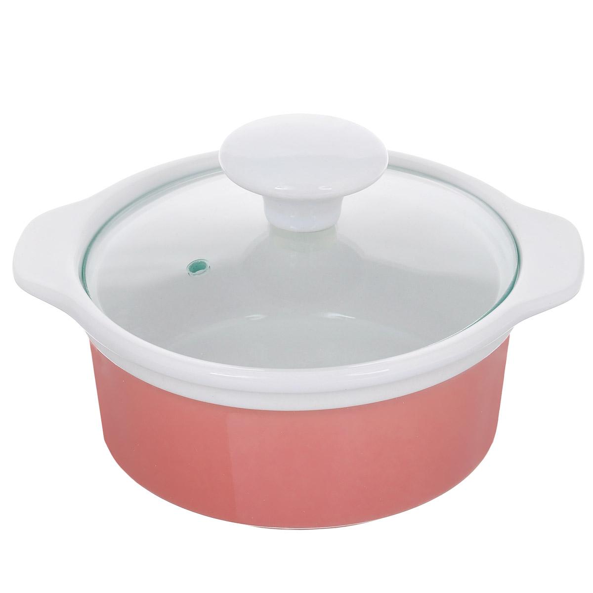 Кастрюля с крышкой, цвет: розовый, 0,6 л. Кт CX002SCX002S-PK (F)Кастрюля выполнена из высококачественной глазурованной керамики и предназначена для запекания различных блюд. Крышка кастрюли изготовлена из стекла с керамической ручкой и отверстием для пара. Можно мыть в посудомоечной машине и использовать в духовом шкафу. Не пригодна для использования на газовой плите. Это идеальный подарок для современных хозяек, которые следят за своим здоровьем и здоровьем своей семьи. Эргономичный дизайн и функциональность позволят вам наслаждаться процессом приготовления любимых, полезных для здоровья блюд. Внутренний диаметр: 12 см. Ширина (с учетом ручек) 17,5 см. Высота стенки: 6,7 см.