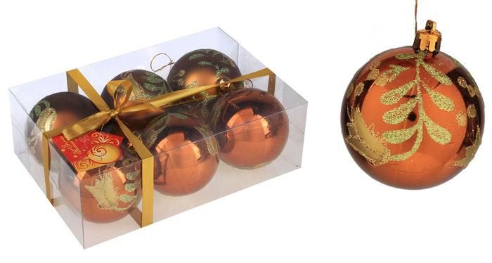 Набор новогодних подвесных украшений Sima-land Шар, цвет: коричневый, диаметр 7 см, 6 шт. 519856519856Набор новогодних подвесных украшений Sima-land Шар прекрасно подойдет для праздничного декора новогодней ели. Набор состоит из 6 пластиковых шаров: 3 с матовой поверхностью, 3 - с глянцевой. Изделия декорированы цветочным узором, украшенным блестками. Для удобного размещения на елке для каждого шара предусмотрена текстильная петелька. Елочная игрушка - символ Нового года. Она несет в себе волшебство и красоту праздника. Создайте в своем доме атмосферу веселья и радости, украшая новогоднюю елку нарядными игрушками, которые будут из года в год накапливать теплоту воспоминаний. Коллекция декоративных украшений принесет в ваш дом ни с чем не сравнимое ощущение волшебства! Откройте для себя удивительный мир сказок и грез. Почувствуйте волшебные минуты ожидания праздника, создайте новогоднее настроение вашим дорогим и близким.