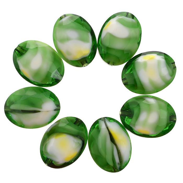 Бусины Астра, цвет: зеленый (9), 13 мм х 10 мм, 8 шт. 7702765_97702765_9Набор бусин Астра, изготовленный из стекла, позволит вам своими руками создать оригинальные ожерелья, бусы или браслеты. Разноцветные бусины оригинального и яркого дизайна выполнены в виде овалов. Изготовление украшений - занимательное хобби и реализация творческих способностей рукодельницы, это возможность создания неповторимого индивидуального подарка.