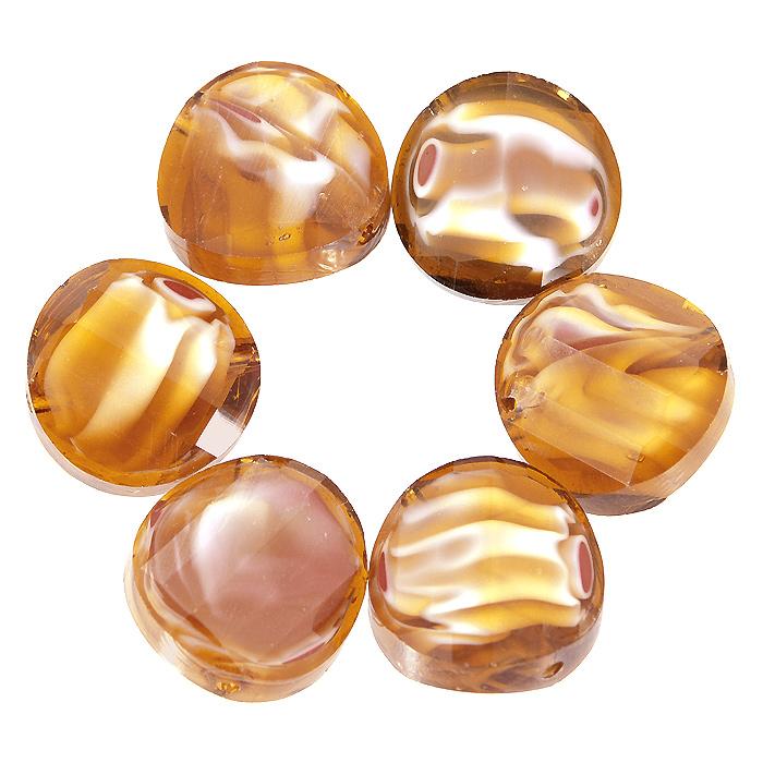 Бусины Астра, цвет: золотистый (8), диаметр 14 мм, 6 шт. 7702767_87702767_8Набор бусин Астра, изготовленный из стекла, позволит вам своими руками создать оригинальные ожерелья, бусы или браслеты. Разноцветные бусины оригинального и яркого дизайна выполнены в виде кругов с выгнутыми краями. Изготовление украшений - занимательное хобби и реализация творческих способностей рукодельницы, это возможность создания неповторимого индивидуального подарка.