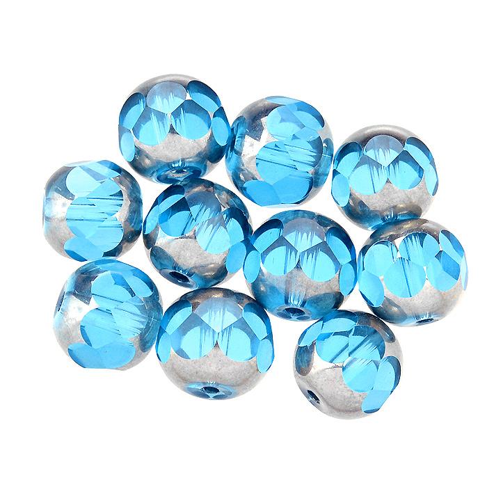 Бусины Астра, цвет: голубой (3), диаметр 10 мм, 10 шт. 7702763_37702763_3Набор бусин Астра, изготовленный из стекла, позволит вам своими руками создать оригинальные ожерелья, бусы или браслеты. Двухцветные круглые бусины оригинального и яркого дизайна оснащены рельефными, многогранными поверхностями. Изготовление украшений - занимательное хобби и реализация творческих способностей рукодельницы, это возможность создания неповторимого индивидуального подарка.