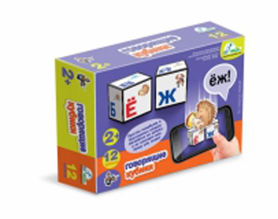 Кубики Десятое королевство Говорящие кубики: Алфавит, 12 шт. 0063800638Кубики Десятое королевство Говорящие кубики: Алфавит включают в себя 12 кубиков, на каждой грани которых расположена буква и соответствующая ей красочная картинка. Кубики выполнены из прочного безопасного пластика. Они очень приятные на ощупь, их грани закруглены, малышу непременно понравится держать их в руках, рассматривать и строить из них различные конструкции. А складывание слов из кубиков поможет малышу развить навыки логического мышления и познакомит его со словами и буквами. Привычные игры с кубиками переходят в виртуальную реальность! Установите специальное приложение для устройств на базе Android, наведите камеру смартфона или планшетного компьютера на кубики - и программа назовет вам букву или слово! Игры с кубиками развивают мелкую моторику рук, цветовое восприятие и пространственное мышление. Ребенку непременно понравится учиться и играть с кубиками, такие игры не только надолго займут внимание малыша, но и помогут ему развить мелкую моторику,...