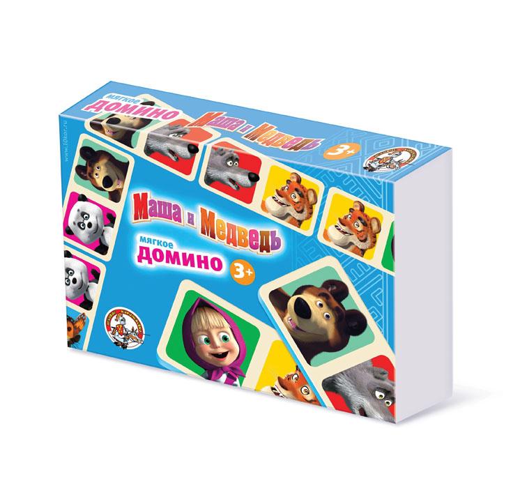 Домино Десятое королевство Маша и Медведь01416Мягкое домино Десятое королевство Маша и Медведь позволит вам и вашему малышу весело и с пользой провести время, ведь совместная игра - лучший способ узнать ребенка и научить его чему-нибудь новому. Комплект игры включает в себя 28 фишек из мягкого вспененного полимера с красочными изображениями любимых героев мультфильма Маша и Медведь. Правила игры расположены на обратной стороне упаковки. В свой ход, каждый игрок должен добавить в цепочку из фишек одну их своих фишек так, чтобы изображение на ней подошло к изображению на конце цепи. Если в руках у игрока нет подходящей фишки - он берет дополнительные, до тех пор, пока не попадется нужная. Выигрывает тот, кто первым выложит все свои фишки. Игра в домино не только подарит малышу множество веселых мгновений, но и поможет познакомиться с новыми словами, а также развить внимательность, пространственное мышление и мелкую моторику.