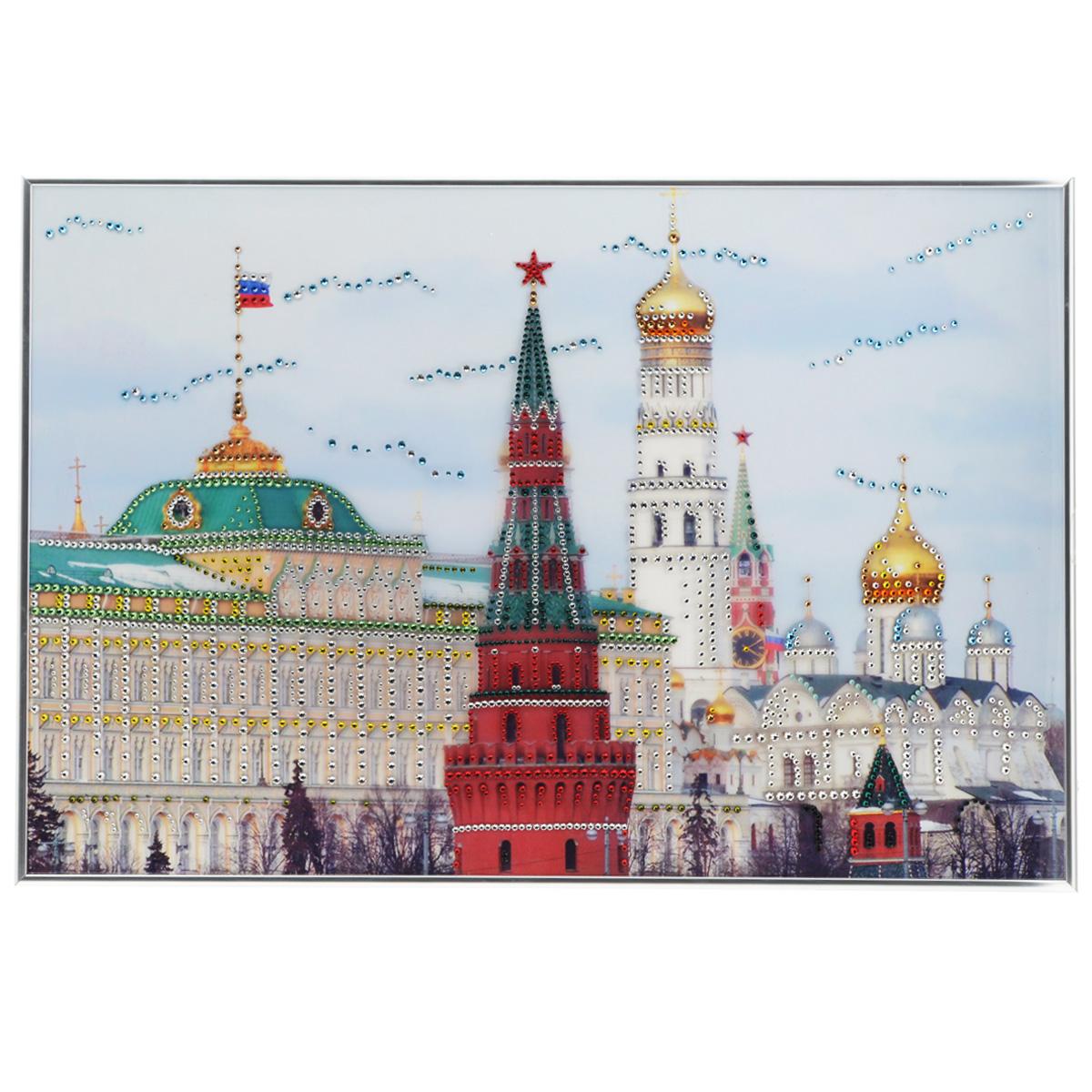 Картина с кристаллами Swarovski Дом Правительства, 60 см х 40 см1093Изящная картина в металлической раме, инкрустирована кристаллами Swarovski, которые отличаются четкой и ровной огранкой, ярким блеском и чистотой цвета. Красочное изображение президентской резиденции, расположенное под стеклом, прекрасно дополняет блеск кристаллов. С обратной стороны имеется металлическая петелька для размещения картины на стене. Картина с кристаллами Swarovski Дом Правительства элегантно украсит интерьер дома или офиса, а также станет прекрасным подарком, который обязательно понравится получателю. Блеск кристаллов в интерьере, что может быть сказочнее и удивительнее. Картина упакована в подарочную картонную коробку синего цвета и комплектуется сертификатом соответствия Swarovski.