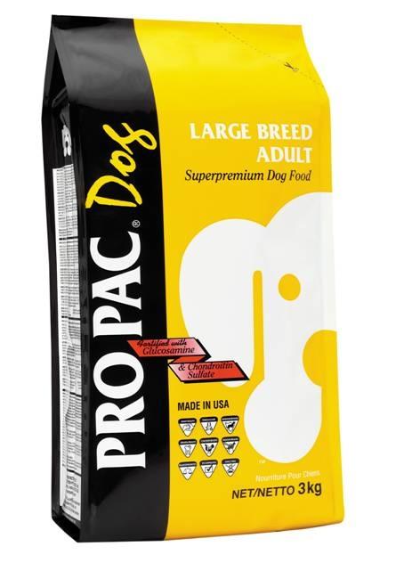 Корм сухой Pro Pac Large Breed Adult для собак крупных пород, с курицей, 20 кг19844Сухой корм Pro Pac Large Breed Adult предназначен для активных собак крупных пород (более 25 кг). Является полноценным кормом, содержащим надлежащий баланс белков и аминокислот, жиров, углеводов, витаминов и минералов. Основные питательные вещества корма Large Breed Adult обеспечивают сильные кости, превосходные мускулы, здоровые кожу и шерсть. Витамины и полезные минералы улучшат работу нервной системы и укрепят суставы. Жирные кислоты (Омега-3 и -6) являются жизненно важными для поддержания иммунной системы. Состав: куриная мука, зерновые продукты, рисовая мука, вареный рис, куриный жир (сохраненный со смешанным токоферолом), высушенная мякоть свеклы, куриные добавки, льняное семя, высушенные куриные яйца, способствующие пищеварению, пивные сухие дрожжи, дрожжевая культура, соль, хлорид калия, хлорид холина, DL-метионин, L-лизин, витамина Е, глюкозамина гидрохлорид, хондроитина сульфат, витамин D3, витамин А, никотиновая кислота, кальция пантотенат, биотин, витамин В12,...