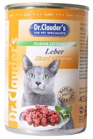 Консервы Dr. Clauders, для взрослых кошек, кусочки с печенью, 415 г22275Консервы Dr. Clauders - полноценное сбалансированное питание для взрослых кошек. Корм обладает высокой вкусовой привлекательностью и способен удовлетворить потребности любой кошки. Состав: мясо и мясные продукты, (минимум 4% печень), злаки, минералы, сахар. Добавки (в 1 кг): витамин А - 2000 МЕ, витамин D3 - 200 МЕ, витамин Е (альфа-токоферол) - 20 мг, таурин - 350 мг, цинк - 12 мг. Содержание питательных веществ: протеин - 7,5%, жиры - 4,5%, зола - 2,5%, клетчатка пищевая - 0,5%, влажность - 81%. Товар сертифицирован.