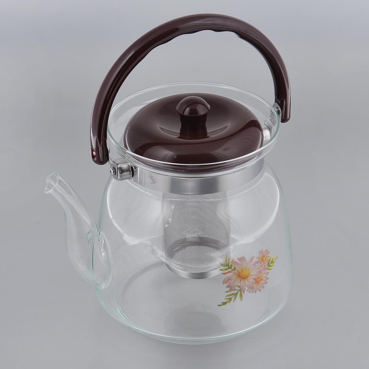 Чайник заварочный Bradex. TK 0038TK 0038Заварочный чайник Bradex выполнен из высокопрочного термостойкого стекла, которое не потрескается даже от перепадов температур. Надежная и прочная крышка выполнена из качественного пластика, устойчивого к повреждениям. Чайник оснащен специальным фильтром, который задерживает чаинки и помогает вам получить на выходе вкусный и чистый ароматный напиток. Также предусмотрена удобная ручка. Благодаря своей конструкции такой чайник одновременно выполняет две функции: сквозь стенки такого чайника можно с легкостью разглядеть консистенцию и крепость завариваемого чая, а также такой вид чайника будет смотреться крайне эстетично на вашем столе. Диаметр чайника (по верхнему краю): 13 см. Высота чайника: 17 см. Высота фильтра: 9 см.