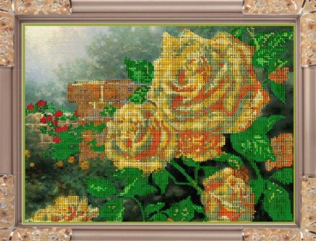 Набор для вышивания бисером Желтые розы, 30,7 x 25 смК-252Набор для вышивания Желтые розы поможет вам создать свой личный шедевр - красивую картину, вышитую бисером. Вышивание отвлечет вас от повседневных забот и превратится в увлекательное занятие! Работа, сделанная своими руками, создаст особый уют и атмосферу в доме и долгие годы будет радовать вас и ваших близких, а подарок, выполненный собственноручно, станет самым ценным для друзей и знакомых. В набор входят: - ткань (габардин) с нанесенным рисунком, - бисер (Чехия), 14 цветов, - инструкция на русском языке, - игла бисерная. УВАЖАЕМЫЕ КЛИЕНТЫ! Обращаем ваше внимание, на тот факт, что рамка в комплект не входит, а служит для визуального восприятия товара.