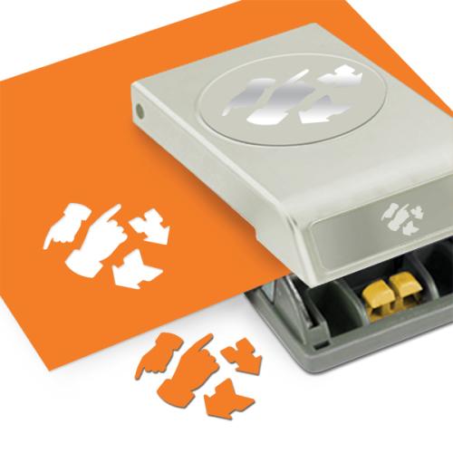 Фигурный дырокол EKSuccess Tools НаправленияEKS-54-30231Фигурный дырокол EKSuccess Tools Направления используют для создания оригинальных открыток, подарков, в бумажном творчестве. С помощью такого дырокола можно создать красивые фигурки для вашей открытки, скрапстраницы и т.д. Форма дырокола удобна для хранения. Вставьте бумагу в дырокол и надавите на рычаг, выньте и разогните лист, готовую фигурку выгните в противоположную сторону. Для декорирования используйте и отверстие в листе, и фигурку. Для лучшего результат при надавливании на дырокол используйте верхнюю часть рычага. Плотность бумаги: 120-160 г/м2. Диаметр фигурок: 2,5 см, 3,5 см, 5 см.