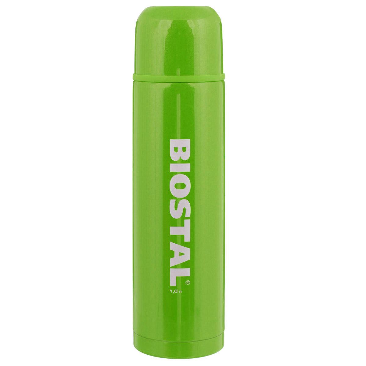Термос BIOSTAL Fler, цвет: зеленый, 1 л. NB-1000С-GNB-1000С-GТермос с узким горлом BIOSTAL Fler, изготовленный из высококачественной нержавеющей стали, относится к классической серии. Термосы этой серии, являющейся лидером продаж, просты в использовании, экономичны и многофункциональны. Корпус покрыт защитным цветным лаком. Термос предназначен для хранения горячих и холодных напитков (чая, кофе) и укомплектован пробкой с кнопкой. Такая пробка удобна в использовании и позволяет, не отвинчивая ее, наливать напитки после простого нажатия. Изделие также оснащено крышкой. Легкий и прочный термос BIOSTAL Fler сохранит ваши напитки горячими или холодными надолго.
