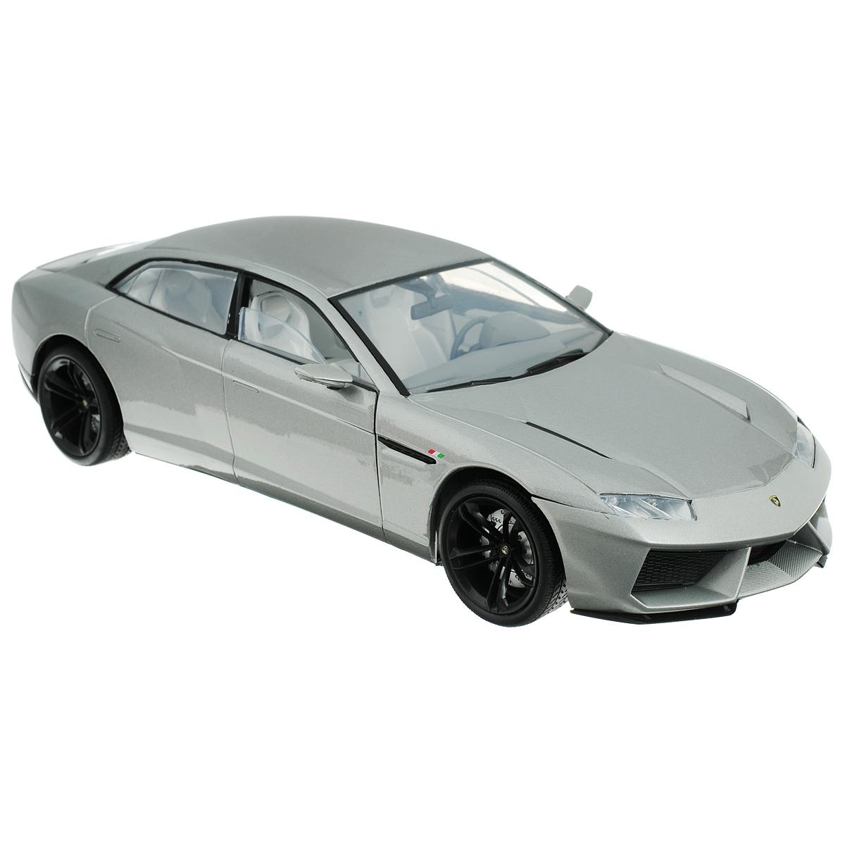 MotorMax Модель автомобиля Lamborghini Estoque79157Коллекционная модель MotorMax Автомобиль Lamborghini Estoque для тех, кто любит роскошь и высокие скорости. Игрушка представляет собой копию одноименной машины фирмы Lamborghini. Машинка будет долго служить своему владельцу благодаря цельнометаллическому корпусу, отлитому из металла с элементами из пластика. Двери машины, капот и багажник открываются. При повороте руля изменяют свое направление колеса. Приятным бонусом станут шины из настоящей резины, обеспечивающие отличное сцепление с любой поверхностью пола. Модель помещена на пластиковую подставку с оригинальным названием машины. Ваш ребенок будет в восторге от такого подарка!