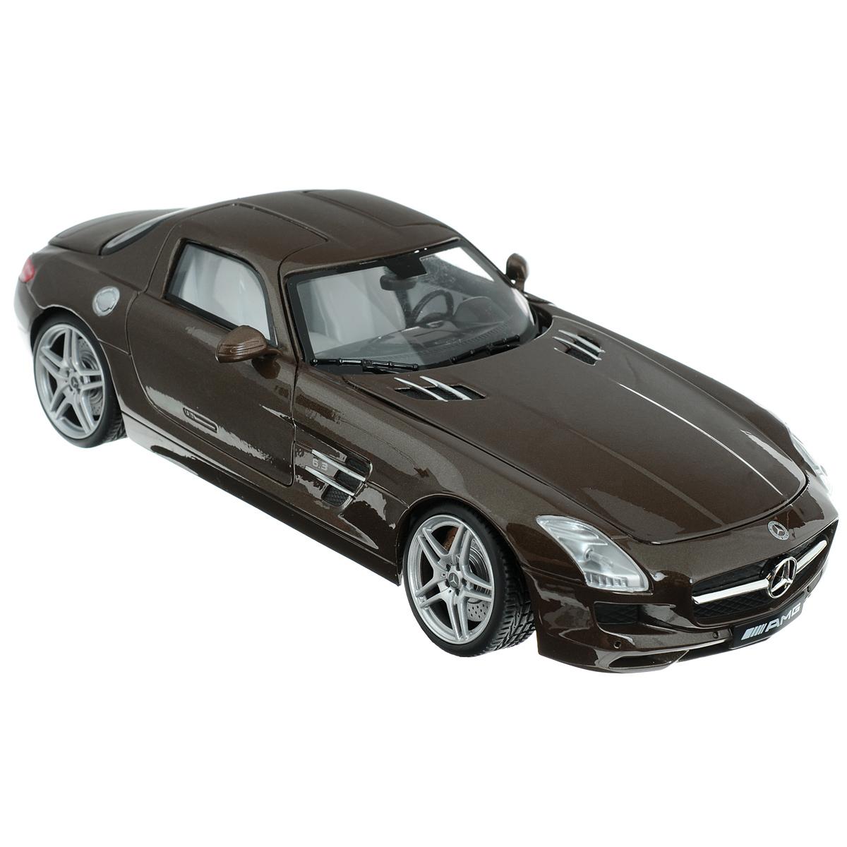 MotorMax Модель автомобиля Автомобиль Mercedes Benz SLS АMGchokolate/ast79162