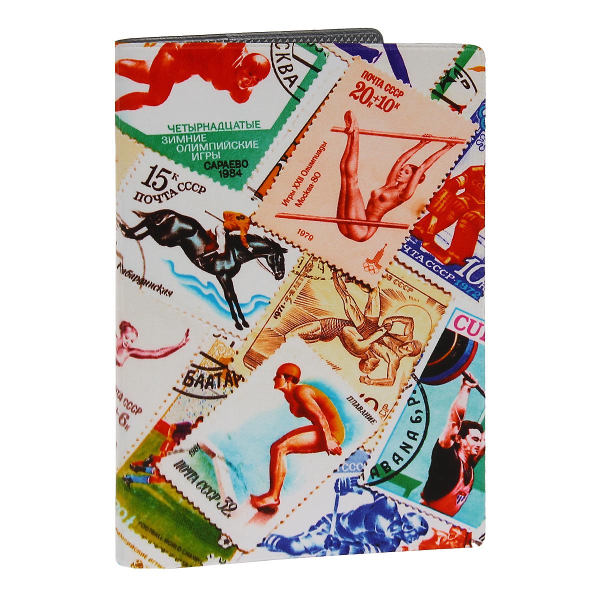 Обложка для паспорта Спорт (марки) 2. OZAM281OZAM281Обложка для паспорта Mitya Veselkov Спорт. Марки - 2 выполнена из прочного ПВХ и оформлена изображениями почтовых марок со спортивной тематикой. Такая обложка не только поможет сохранить внешний вид ваших документов и защитит их от повреждений, но и станет стильным аксессуаром, идеально подходящим вашему образу. Яркая и оригинальная обложка подчеркнет вашу индивидуальность и изысканный вкус. Обложка для паспорта стильного дизайна может быть достойным и оригинальным подарком.