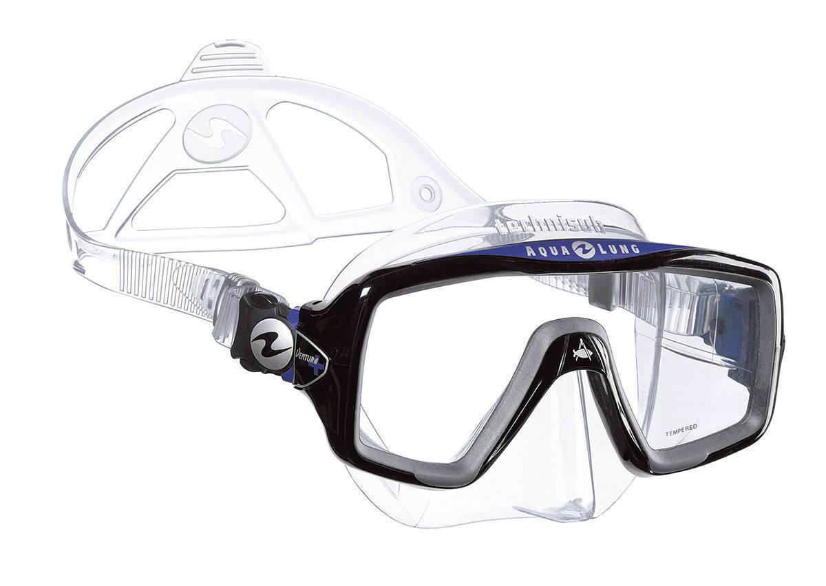 Маска для плавания Technisub Ventura Plus, цвет: прозрачный силикон, синий, черныйTN118910Маска для плавания Ventura Plus - это новая версия проверенной временем маски Ventura, предназначена для любителей сноркелинга. Новый более стильный дизайн, большой угол обзора и карданные пряжки делают эту модель привлекательной и для дайверов. Основные особенности: Легкая однолинзовая маска; Широкий угол обзора; Быстрая и легкая регулировка натяжения ремешка; Обтюратор из гипоаллергенного силикона; Линзы из каленого стекла. Обтюратор и ремешок маски сделаны из качественного силикона, обеспечивающего мягкость и плотность прилегания в сочетании с комфортом. Силикон LSR не вызывает аллергию, а также сочетает отличную степень прозрачности с устойчивостью к воздействию ультрафиолетовых лучей в отличии резины. Корпус маски сделан из высокопрочного поликарбоната. Линзы традиционно выполнены из каленого стекла, что обеспечивает безопасность. Маска продается в специальном пластиковом контейнере, удобном для хранения и...