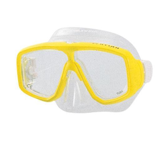 "Маска для плавания Tusa ""Platina"", цвет: желтый"