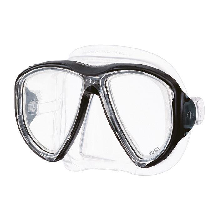 """Маска для плавания Tusa """"Powerview"""", цвет: прозрачный, черный"""