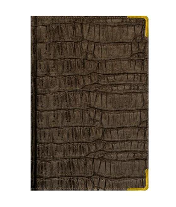Ежедневник А5 Полудатированный Skin (серо-коричневый) 192л. (BUSINESS PRESTIGE) Искусственная кожа с поролономЕКП51419213В линейке бизнес-ежедневников представлены датированные, полудатированные и недатированные внутренние блоки на офсетной бумаге плотностью 70гр.м. Коллекция прекрасно подходит в качестве подарка. Обложка обладает возможностью термотиснения. Внутренний блок прошит, что гарантирует отсутствие потери листов при активном использовании. Цветные форзацы подчеркивают высокий статус ежедневника. Металлические скругленные углы защищают эту серию продукции при активном использовании. Особый шарм и статус ежедневникам придает разнообразие отделок поверхностей. Исследование с фокус-группами показало, что качество текстур неотличимо от оригинальных поверхностей. Доступный статус - кредо коллекции Business Prestige! Виды отделки: Ancient (гладкая и мягкая кожа), Iguana, Skin, Gold, Nappa, Croco, Grand croco, Impact. Разметка: . Бумага: . Формат: А5. Пол: Унисекс. Особенности: металлические уголки, цветной торец (золото), бумага тонированная, ляссе 2шт..