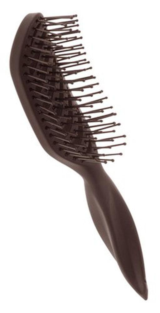 Dewal Расческа для укладки вогнутая. BR69539 brownBR69539 brownВ ассортименте торговой марки Dewal имеются расчески на все случаи жизни, с помощью которых можно выполнять стрижки, укладки, модельные причёски и другие манипуляции с волосами. Вообще расческа для волос считается для парикмахера самым простым, но при этом незаменимым инструментом. Щетка для укладки с пластиковыми штифтами идеальна для создания прикорневого объема, расчесывания. Вогнутая форма, прорезинено покрытие Soft Touch добавляют бонус при формировании прически. Продуманная конструкция, эргономичный дизайн обеспечивают комфортную работу парикмахера. Расчёски с лёгкостью скользят по волосам, удобно ложатся в руку. Товар сертифицирован.