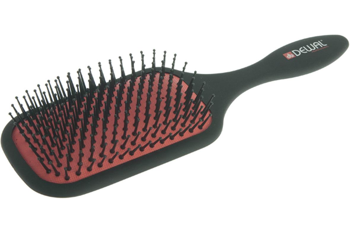 Dewal Расческа массажная, с пластиковыми зубцами. BR7517BR7517В ассортименте торговой марки Dewal (Деваль) имеются расчески на все случаи жизни, с помощью которых можно выполнять стрижки, укладки, модельные причёски и другие манипуляции с волосами. Вообще расческа для волос считается для парикмахера самым простым, но при этом незаменимым инструментом. Массажная щетка лопата с пластиковыми зубцами идеальна для расчесывания любых волос и массажа кожи головы. Продуманная конструкция, эргономичный дизайн обеспечивают комфортную работу парикмахера. Расчёски с лёгкостью скользят по волосам, удобно ложатся в руку. Товар сертифицирован.