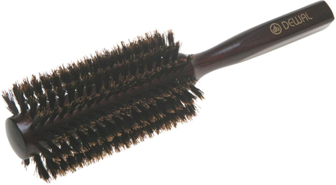 Dewal Расческа круглая, с натуральной щетиной. BRT1214BRT1214В ассортименте торговой марки Dewal (Деваль) имеются расчески на все случаи жизни, с помощью которых можно выполнять стрижки, укладки, модельные причёски и другие манипуляции с волосами. Вообще расческа для волос считается для парикмахера самым простым, но при этом незаменимым инструментом. Брашинг круглой формы скомбинированной щетиной (натуральная щетина + пластиковый штифт) обеспечивает более идеальное вытягивание волос (также для выпрямления вьющихся волос), эргономичная ручка создает дополнительное удобство при формировании прически. Не продувная. Продуманная конструкция, эргономичный дизайн обеспечивают комфортную работу парикмахера. Расчёски с лёгкостью скользят по волосам, удобно ложатся в руку. Товар сертифицирован.