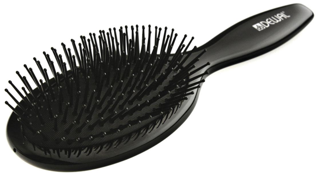 Dewal Расческа массажная Black, с пластиковыми зубцами. BRWT63BRWT63В ассортименте торговой марки Dewal (Деваль) имеются расчески на все случаи жизни, с помощью которых можно выполнять стрижки, укладки, модельные причёски и другие манипуляции с волосами. Вообще расческа для волос считается для парикмахера самым простым, но при этом незаменимым инструментом. Массажная овальная щетка с пластиковыми штифтами идеальна для расчесывания любых волос и массажа кожи головы. Продуманная конструкция, эргономичный дизайн обеспечивают комфортную работу парикмахера. Расчёски с лёгкостью скользят по волосам, удобно ложатся в руку. Товар сертифицирован.