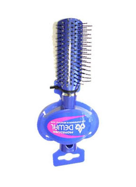 Dewal Расческа массажная мини с пластиковым штифом. DW9558P1-H2P BLUEDW9558P1-H2P BLUEВ ассортименте торговой марки Dewal (Деваль) имеются расчески на все случаи жизни, с помощью которых можно выполнять стрижки, укладки, модельные причёски и другие манипуляции с волосами. Вообще расческа для волос считается для парикмахера самым простым, но при этом незаменимым инструментом. Массажная деревянная мини щетка с пластмассовыми зубцами (что делает расческу более мягкой и менее травматичной для кожи головы) идеальна для расчесывания любых волос и массажа кожи головы, специальная форма зубцов обеспечивает наиболее бережное соприкосновение с кожей головы. Продуманная конструкция, эргономичный дизайн обеспечивают комфортную работу парикмахера. Расчески с легкостью скользят по волосам, удобно ложатся в руку. Товар сертифицирован.
