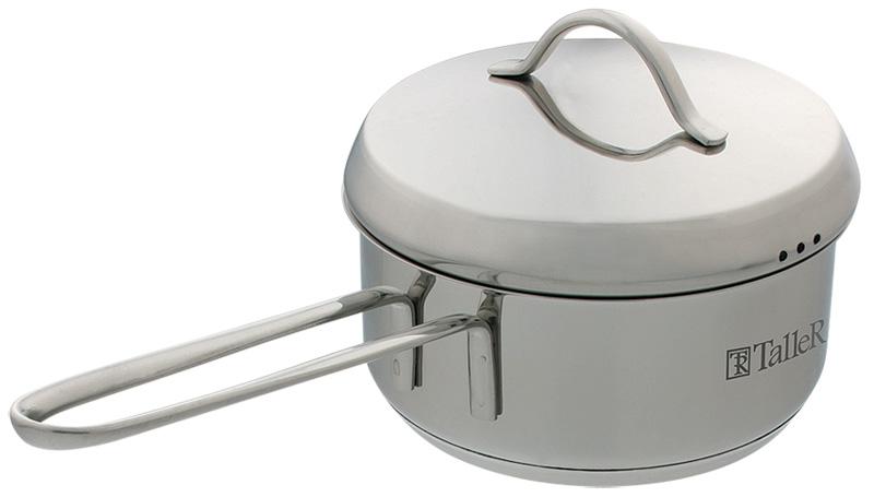 Яйцеварка Taller Camille, 0,6 л. TR-1107TR-1107Яйцеварка Taller Camille изготовлена из высококачественной нержавеющей стали. Зеркальная полировка изделия придает приятный внешний вид. Яйцеварка оснащена удобной ручкой на сварке, которая изготовлена из нержавеющей стали. Такая ручка надежно крепится к корпусу посуды. На внутренней поверхности изделия имеются удобные отметки литража. Капсулированное дно с алюминиевой вставкой обеспечивает идеальное распределение тепла. Яйцеварка Taller Camille подходит для использования на всех типах плит, включая индукционные, а также в духовом шкафу. Пригодна для мытья в посудомоечной машине.