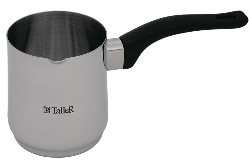 Турка Taller Jenna, 600 млTR-1332Турка Дженна, 8х10.0 см (0.6 л) Толщина стенки - 0,8 мм. Полировка внешняя - зеркальная, внутренняя - матовая. Бакелитовая ручка. Рекомендации: подходит для всех типов плит (кроме индукционной).