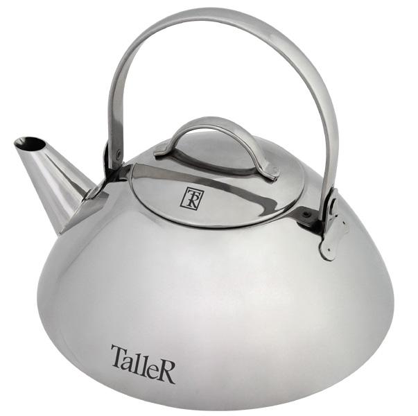 Чайник заварочный 1 л TalleR (Таллер) (4)TR-1345Чайник для заваривания Саймон, 1.0 л., со съемным фильтром. Толщина стенки -0,6 мм, толщина дна 4.1 мм. Внешняя полировка корпуса – зеркальная, крышка - зеркальная. Крышка из нержавеющей стали. Ручка из нержавеющей стали. Рекомендации: подходит для всех типов плит (не подходит для индукционной).
