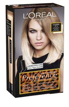 LOreal Paris Краска для волос Preference Wild Ombres, оттенок 4, от светло русого до русого, 225 млA6736801Краска для волос LOreal Paris Preference Wild Ombres - это новый легкий способ создания соблазнительного Ombre на длине и кончиках волос. Достаточно нанести осветляющий крем на длину или кончики волос с помощью эксклюзивной эксперт-расчески, которая позволяет добиться идеального результата нанесения, и подождать 25 минут. Упаковка содержит: флакон осветляющего крема 20 мл, флакон-аппликатор с проявляющим кремом 60 мл, одну упаковку осветляющего порошка 18 г, питательный шампунь-уход 40 мл, профессиональную расческу, инструкцию по применению, одну пара перчаток. Товар сертифицирован.