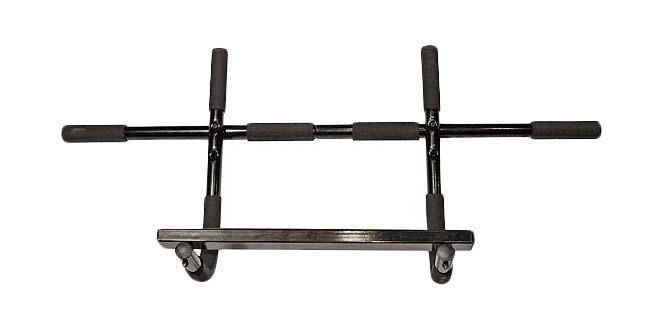 Турник в дверной проем IRSB0908IRSB0908Турник IRSB0908 может быть установлен в дверной проем в верхнем положении для выполнения различных подтягиваний и базовых упражнений на перекладине. Также его можно установить в нижнем положении для подъемов корпуса из положения лежа. Кроме того, турник можно использовать на полу. Прочная конструкция обеспечивают максимальную нагрузку на турник до 90 кг. Мягкие ручки идеально подходят по диаметру захвата, чтобы предотвратить соскальзывание руки во время тренировки. Турник рассчитан на крепление в дверных проемах шириной 70-78 см и глубиной 11-16 см.
