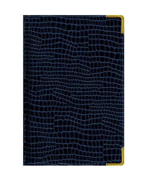 Ежедневник А6 Недатированный Iguana (темно-синий) 152л. (BUSINESS PRESTIGE) Искусственная кожа с поролономЕКП61415208В линейке бизнес-ежедневников представлены датированные, полудатированные и недатированные внутренние блоки на офсетной бумаге плотностью 70гр.м. Коллекция прекрасно подходит в качестве подарка. Обложка обладает возможностью термотиснения. Внутренний блок прошит, что гарантирует отсутствие потери листов при активном использовании. Цветные форзацы подчеркивают высокий статус ежедневника. Металлические скругленные углы защищают эту серию продукции при активном использовании. Особый шарм и статус ежедневникам придает разнообразие отделок поверхностей. Исследование с фокус-группами показало, что качество текстур неотличимо от оригинальных поверхностей. Доступный статус - кредо коллекции Business Prestige! Виды отделки: Ancient (гладкая и мягкая кожа), Iguana, Skin, Gold, Nappa, Croco, Grand croco, Impact. Разметка: . Бумага: . Формат: А6. Пол: Унисекс. Особенности: металлические уголки, цветной торец (золото), бумага тонированная, ляссе 2шт..