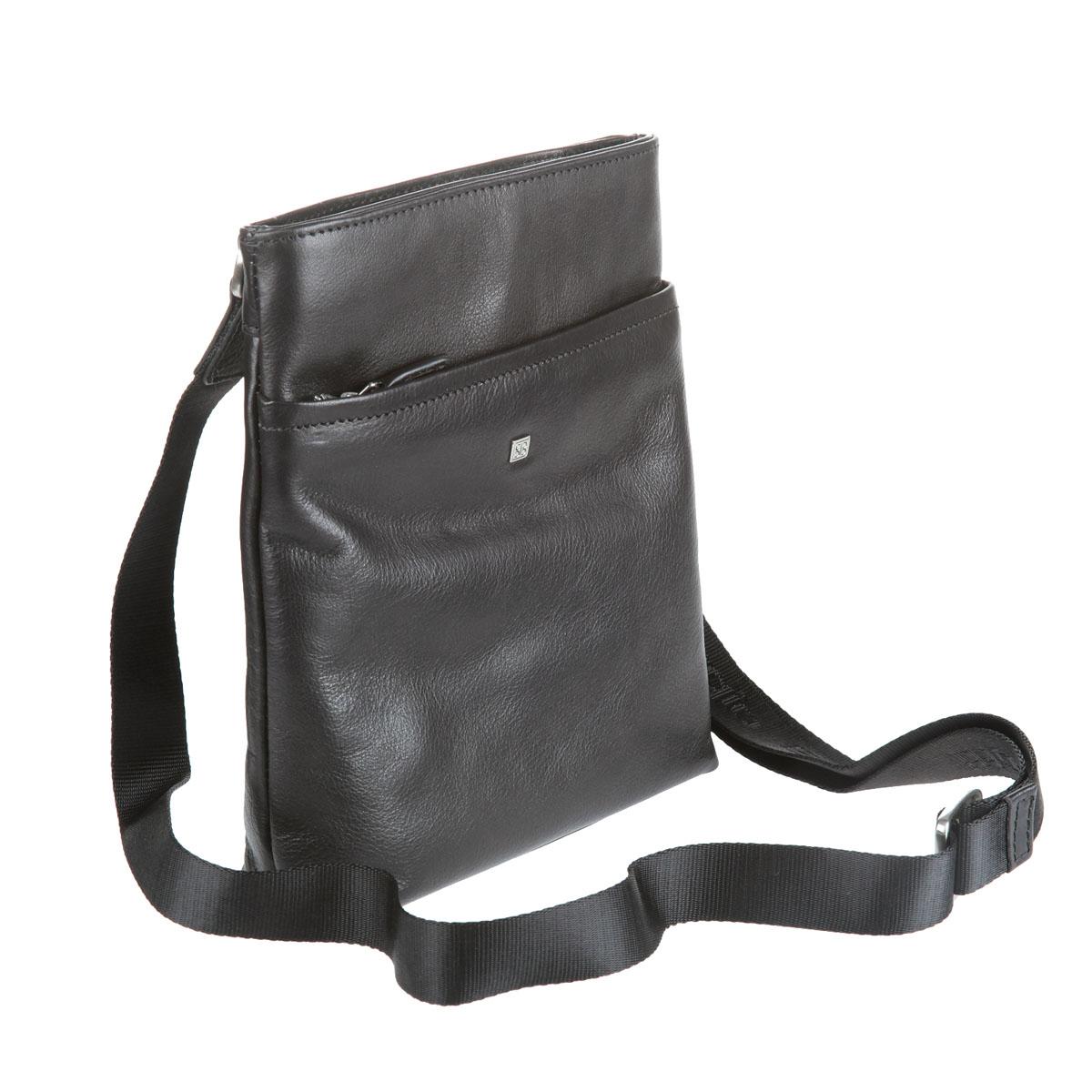 Планшет мужской Sergio Belotti, цвет: черный. 95519551 west blackПланшет Sergio Belotti выполнен из натуральной кожи. Планшет имеет одно вместительное отделение, закрывающееся на застежку-молнию. Внутри - вшитый карман на молнии, накладной карман для мобильного телефона и фиксатор для ручки. На лицевой стороне расположен вшитый карман на молнии, содержащий внутри четыре наборных кармашка для кредиток. На задней стенке - дополнительный карман на молнии. Планшет имеет плечевой ремень регулируемой длины. К планшету прилагается чехол для хранения. Этот стильный аксессуар станет изысканным дополнением к вашему образу.