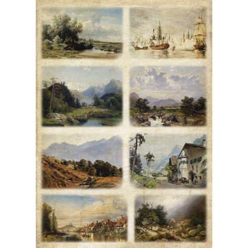 Рисовая бумага для декупажа Craft Premier Картины, 28,2 см х 38,4 смCP06278