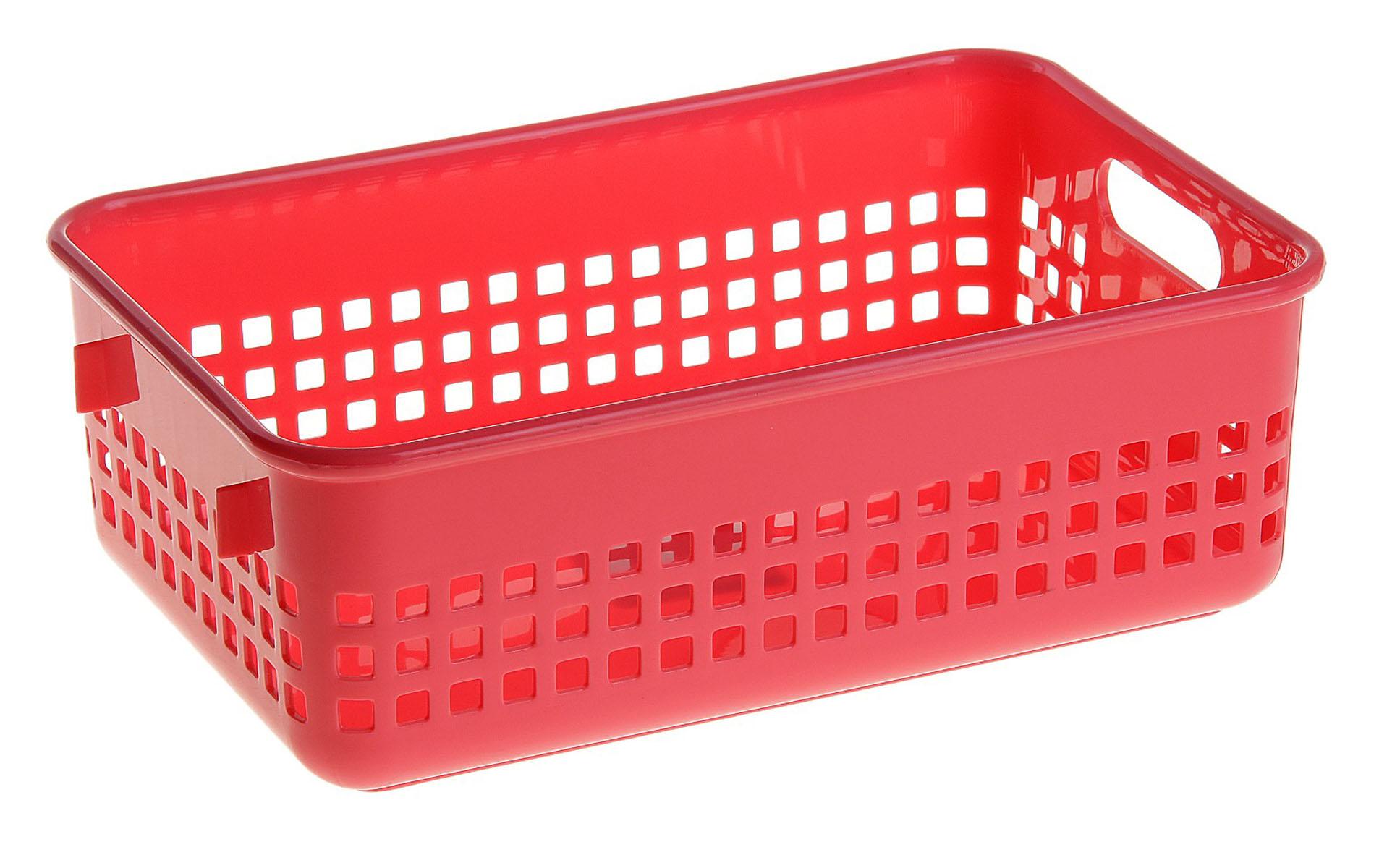 Корзинка для мелочей, одна ручка, большая, красная 147514147514Корзинка для мелочей, одна ручка, большая, красная 147514