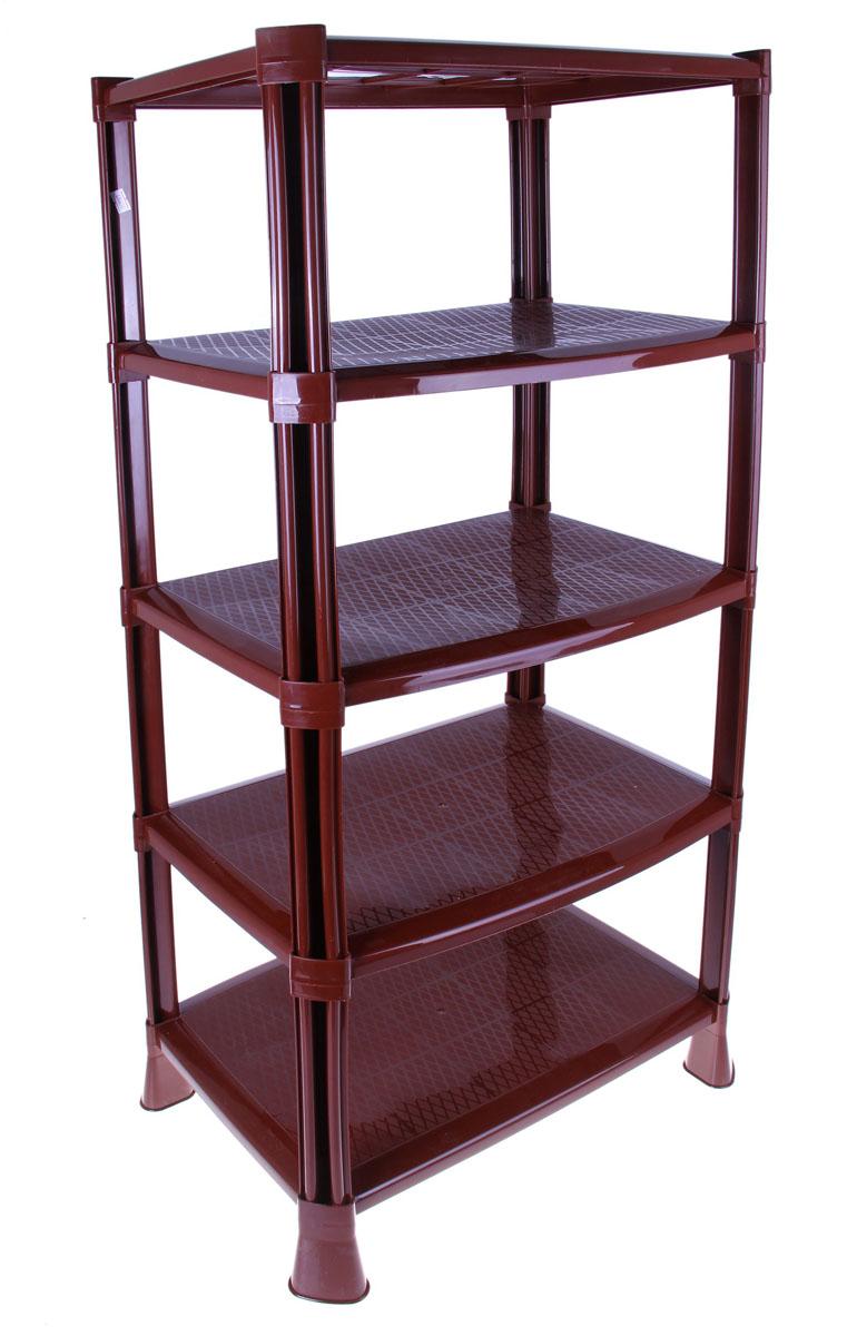 Этажерка для обуви, 5 ярусов, цвет: коричневый, 51 х 35 х 100,8 см696650Этажерка для обуви с 5 полками выполнена из высококачественного пластика и предназначена для хранения обуви в прихожей. Оптимальный размер изделия позволяет устанавливать этажерку как в коридоре, так и в шкафу-купе. Может использоваться для хранения в кладовых и лоджиях. На каждой полке можно разместить по две пары обуви. В комплект входит ложечка для обуви, крючки и специальная подставка с поддоном для зонтов. Очень удобная и компактная, но в тоже время вместительная, этажерка прекрасно впишется в пространство вашей прихожей. Компактный размер подходит даже для небольших прихожих. Легко собирается и разбирается. Размер этажерки (ДхШхВ): 51 см х 35 см х 100,8 см.