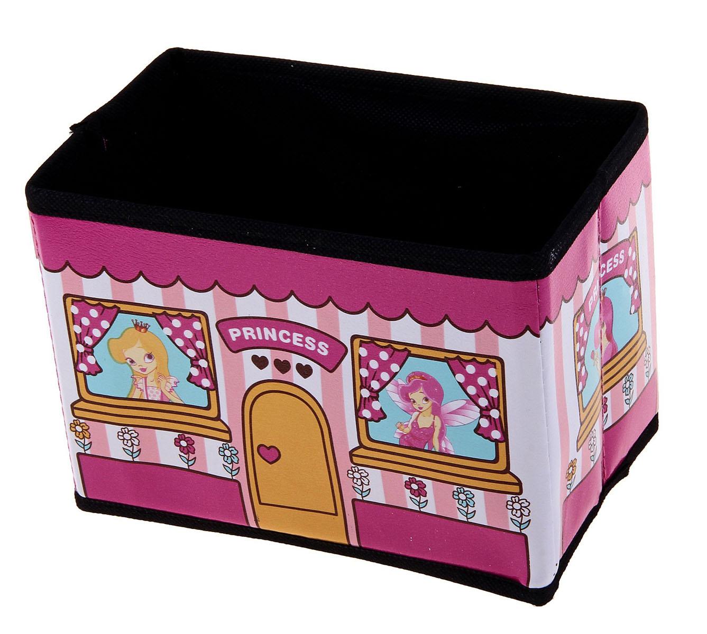 Коробка для хранения Sima-land Принцесса, цвет: розовый, 19 см х 11,5 см х 14 см707521Коробка для хранения Sima-land Принцесса изготовлена из искусственной кожи и картона. Благодаря специальным вставкам, коробка прекрасно держит форму. Эстетичный дизайн коробки понравиться вашему ребенку. Внутренняя емкость позволяет хранить внутри школьные принадлежности и другие мелочи. Мобильность коробки обеспечивает складывание и раскладывание ее одним движением. Коробка Sima-land Принцесса найдет достойное место среди детских мелочей.