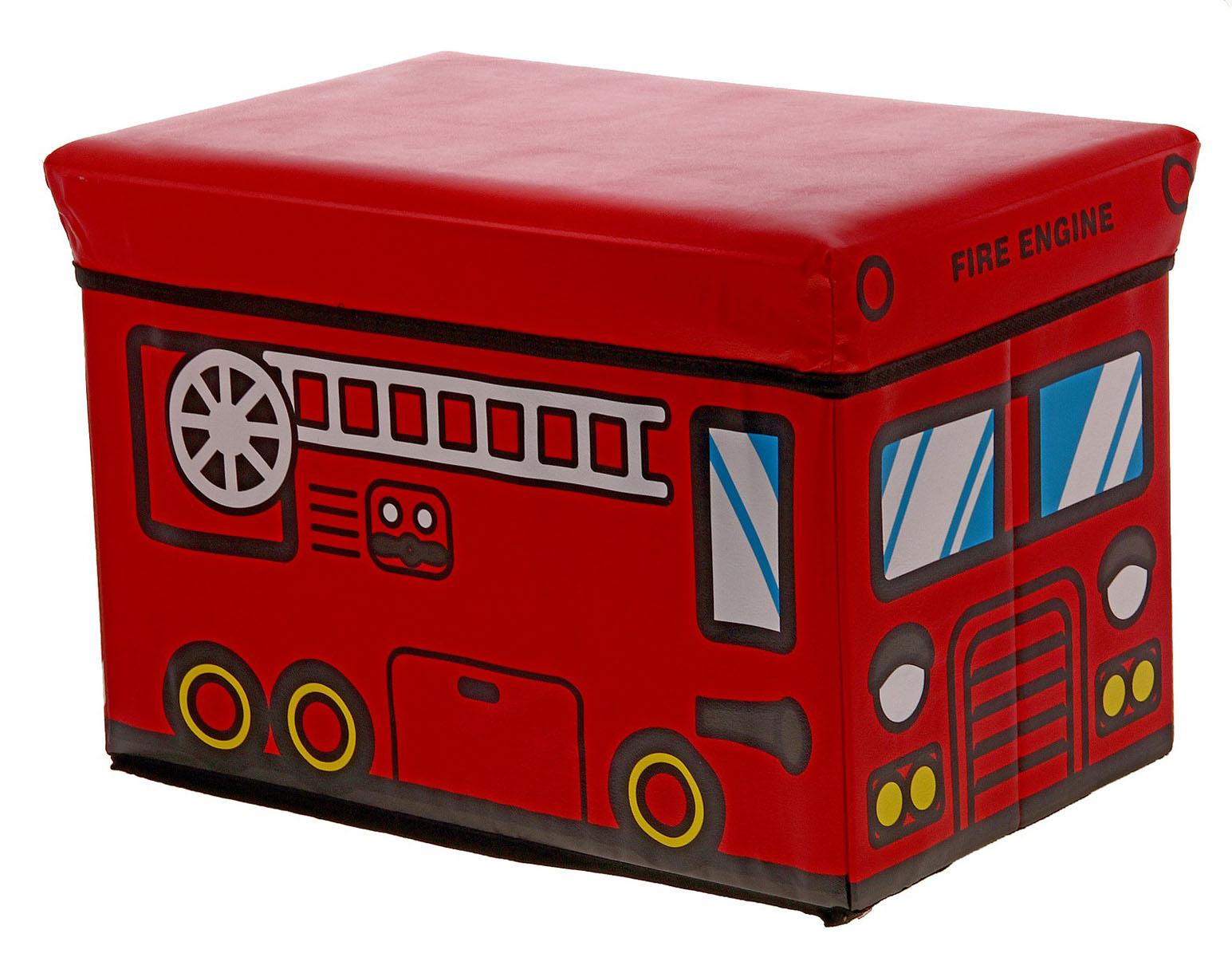 Короб для хранения Sima-land Пожарная машина, с крышкой, 48 х 31 х 31 см707523Короб для хранения Sima-land Пожарная машина изготовлен из прочного картона, клеенки и флизелина. Короб предназначен для хранения различных вещей. Также он идеально подойдет для детских игрушек. Изделие выполнено в виде пожарной машины и оснащено удобной, плотно закрывающейся крышкой. Короб сочетает в себе практичность и яркий игровой дизайн, благодаря которому прекрасно подойдет для детской комнаты. Материал: картон, клеенка, флизелин.