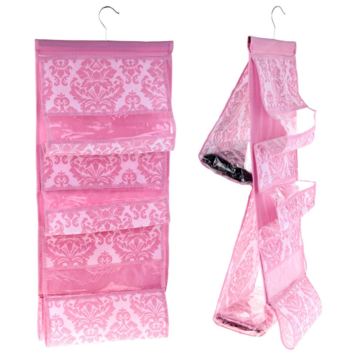 Органайзер для сумок Sima-land с вешалкой, цвет: розовый, 5 отделений. 709832709832Органайзер Sima-land, изготовленный из ПВХ и текстиля, предназначен для хранения сумок. Изделие представляет собой текстильное полотно с 5 пришитыми кармашками. Благодаря металлической вешалке, органайзер можно подвесить на стену или дверь в необходимом для вас месте. Органайзер декорирован оригинальным цветочным орнаментом. Этот нужный предмет может стать одновременно и декоративным элементом комнаты. Яркий дизайн, как ничто иное, способен оживить интерьер вашего дома.