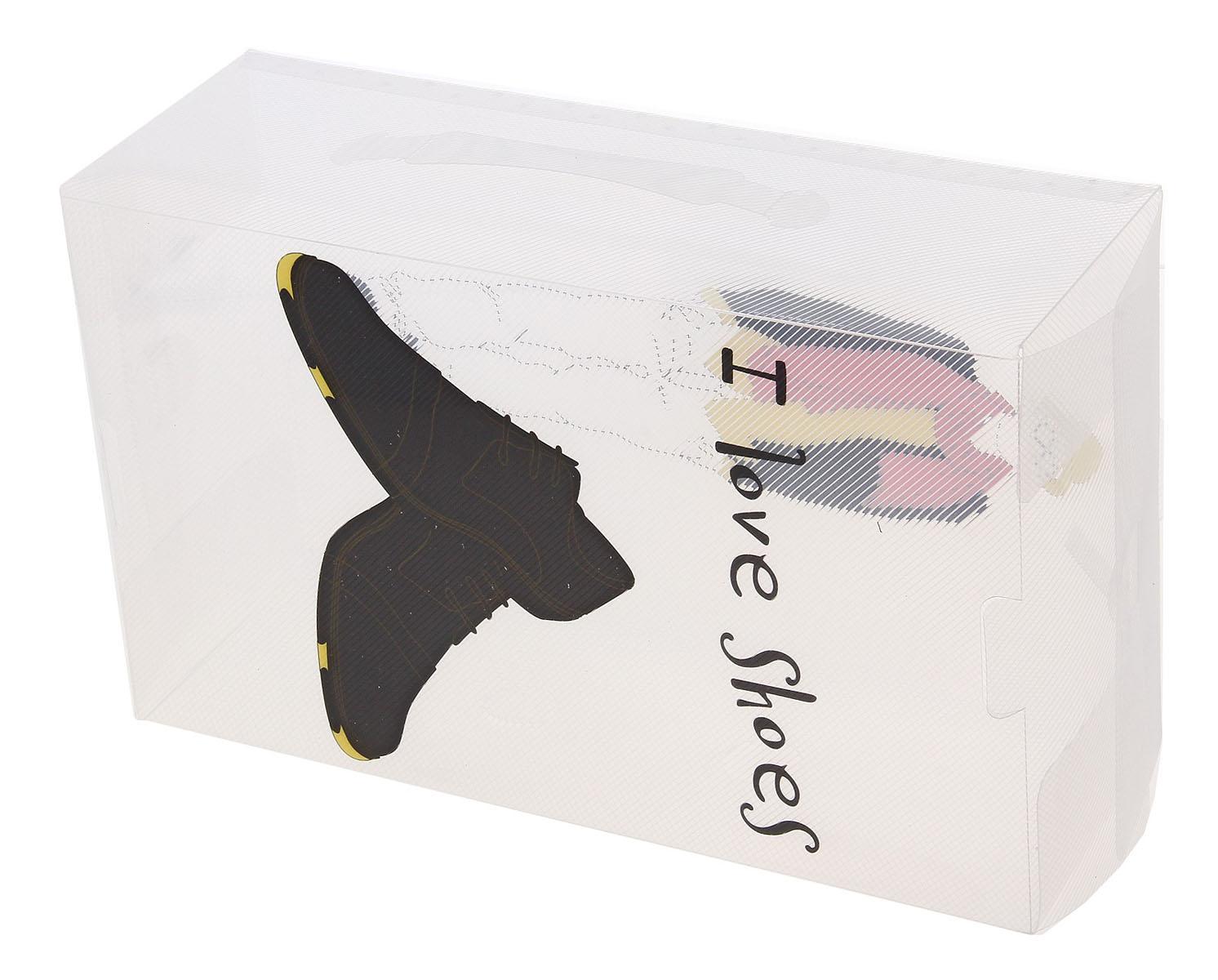 Короб для хранения обуви Sima-land Джентльмен, с ручкой, 33 см х 20 см х 12 см709939Короб для хранения обуви Sima-land Джентльмен изготовлен из высококачественного пластика. Короб украшен двусторонней картинкой. Предназначен короб для хранения обуви. Короб защищает обувь от пыли и царапин. Благодаря полупрозрачной конструкции вы всегда сможете узнать, что находится внутри, а, значит, при необходимости найти нужную пару. Короба можно укладывать несколько рядов, за счет жёсткости конструкции обеспечивающей экономию места и полный порядок в шкафу и гардеробной. Наличие отверстий в коробе, обеспечит вентиляцию обуви. Для удобной транспортировки короб имеет ручку. Короб Sima-land Джентльмен обеспечит безопасное хранение вашей обуви. Размер короба: 33 см х 20 см х 12 см.