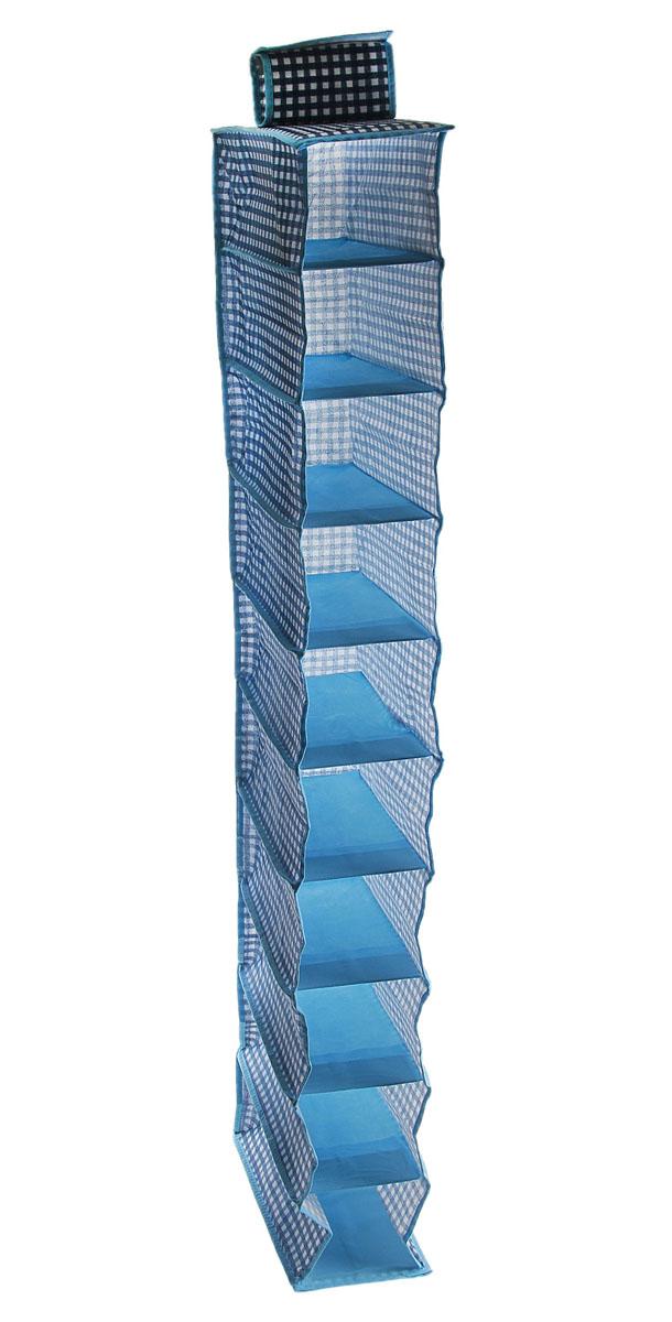Кофр для хранения вещей Sima-land, подвесной, 10 отделений, 15 х 30 х 120 см 760514760514